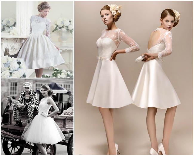 Short Wedding Dresses Vintage Style - Wedding Short Dresses