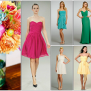 Beach Palette and Bridesmaid Dresses
