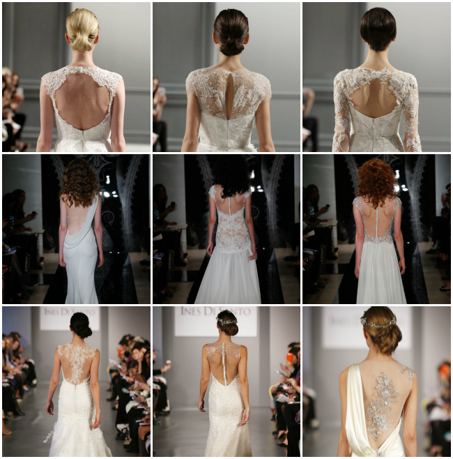 Images- Monique Lhuillier (first row), Reem Acra (second row), Ines Di
