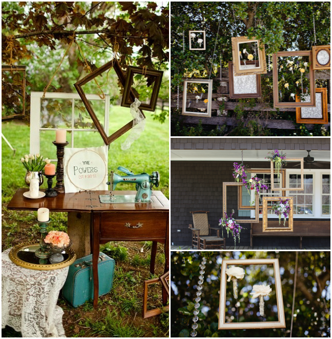 Southern Wedding Decoration Ideas: Chic Wedding Decor: Empty Picture Frames