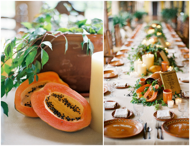 Papaya-or-Paw-paw-wedding-centerpiece