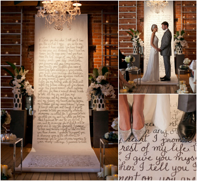 Unique Wedding Vows: Unique Display Ideas For Written Vows At The Wedding