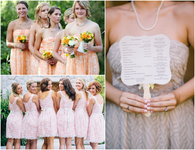 Patterned-Bridesmaids-Dresses