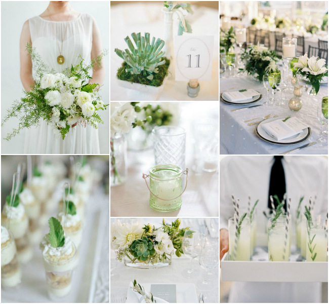green-white-inspiration-board