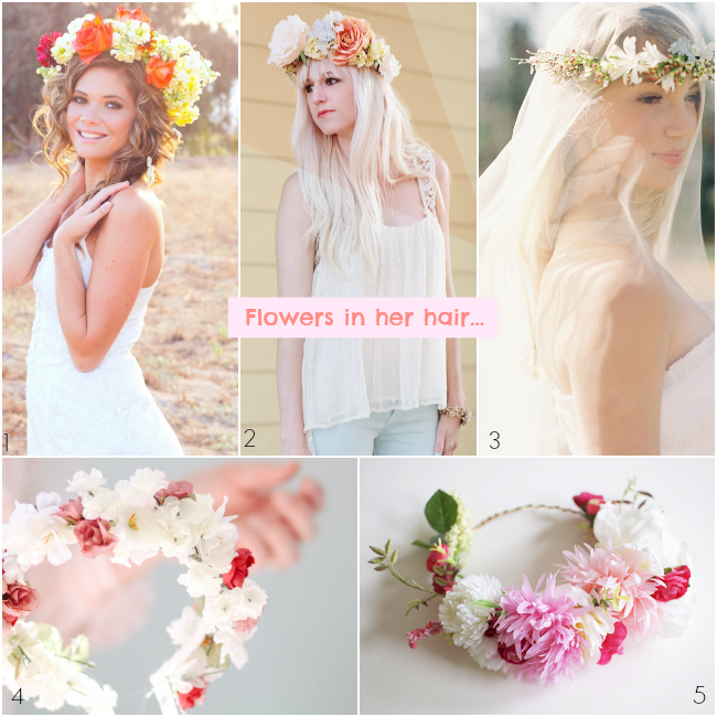 how to make a crown of flowers without wire