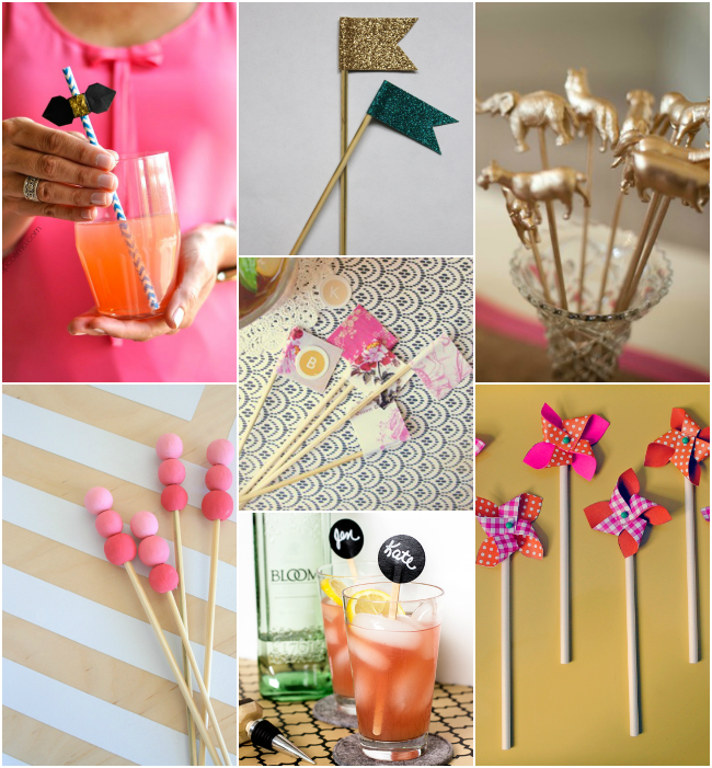 DIY Drink Stirrers
