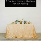 Make A Statement: Table Linens Part 2