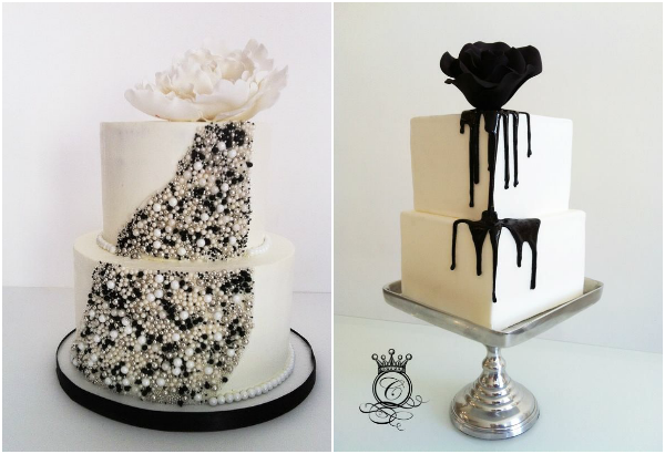 Black And White Wedding Cakes Black White Wedding Cakes