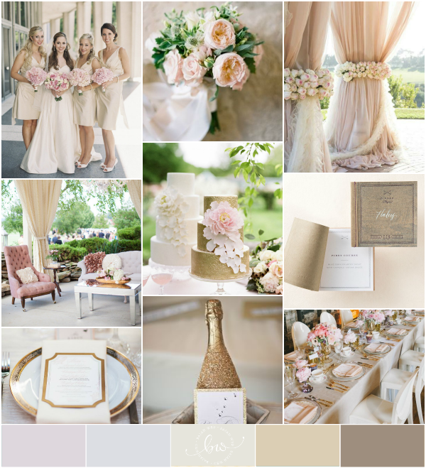 Champagne And Gold Wedding (Reader Request)