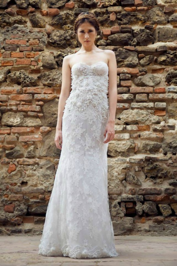 Dominique wedding dress | Francesca Miranda Fall 2014 Bridal Collection | Bajan Wed