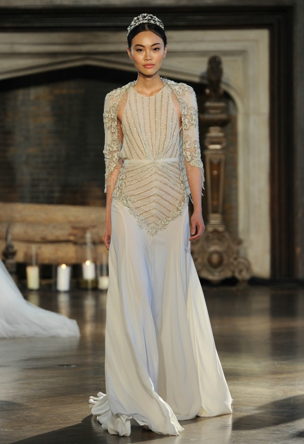 Inbal Dror Fall 2015 Bridal Collection | Gold Beaded Wedding Dress