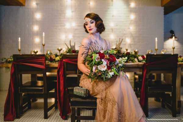 Glamorous Boardwalk Empire Wedding Inspiration | Edward Lai Photography