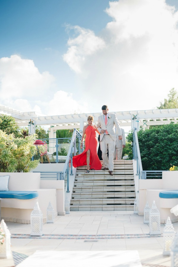 Vibrant Coral and White St. Martin Wedding   Aaron & Jillian Photography