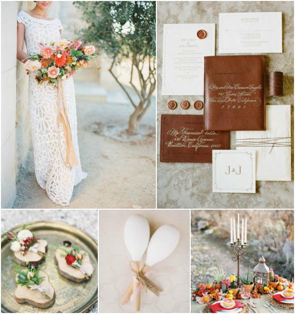 Romantic and Elegant Cinco de Mayo Wedding Inspiration