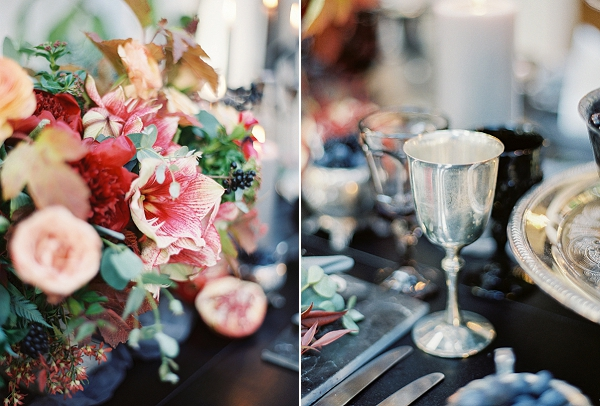 Rich and Moody Berry Wedding Inspiration from Sposto Photography