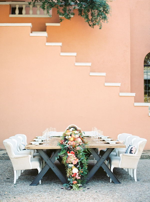 Colorful Mediterranean Styling At Rosewood Mansion by Grit and Gold Weddings with Taylor Lord Photography