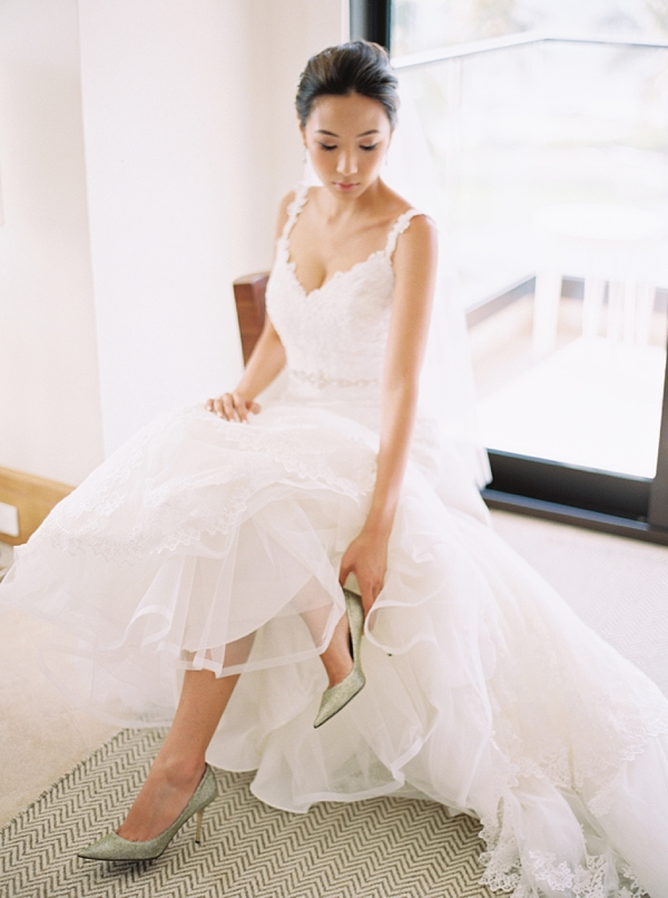 Wedding Shoes Jimmy Choo Destination Hawaii Wedding at Andaz Maui At Wailea from Photographs by Caileigh
