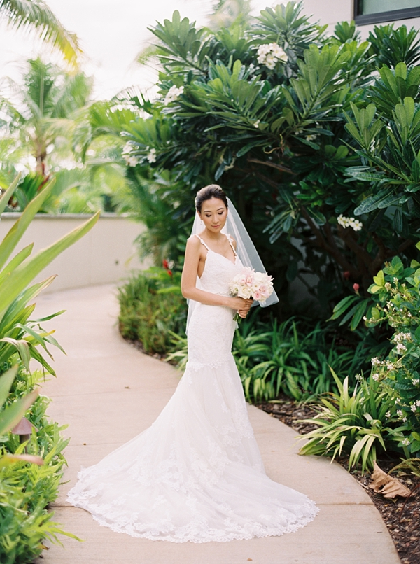 Bride Destination Hawaii Wedding at Andaz Maui At Wailea from Photographs by Caileigh