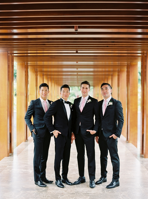 Groom and Groomsmen Destination Hawaii Wedding at Andaz Maui At Wailea from Photographs by Caileigh