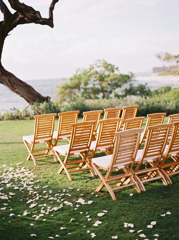 Wedding Ceremony Seating Destination Hawaii Wedding at Andaz Maui At Wailea from Photographs by Caileigh