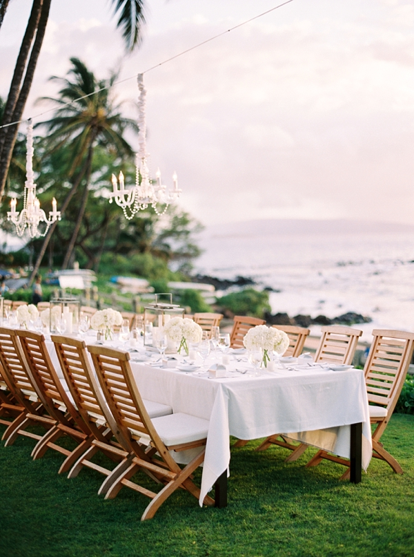 Classic Reception Destination Hawaii Wedding at Andaz Maui At Wailea from Photographs by Caileigh