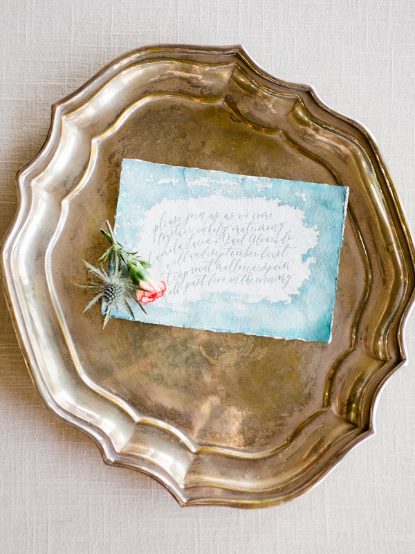 Watercolor Wedding Stationery | The Wait: Reflective Fine Art Bridal Inspiration By Live View Studios