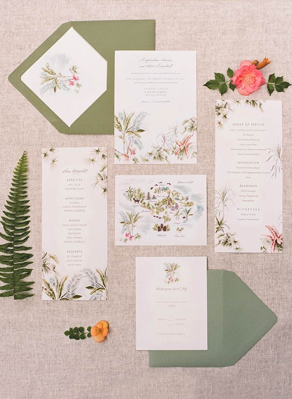 Invitation Suite | Dream Elopement In Bali By Audra Wrisley Photography