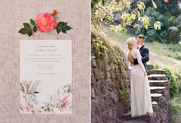 Wedding Invitation and Bride and Groom | Dream Elopement In Bali By Audra Wrisley Photography