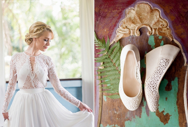 Wedding Dress and Bridal Shoes | Dream Elopement In Bali By Audra Wrisley Photography