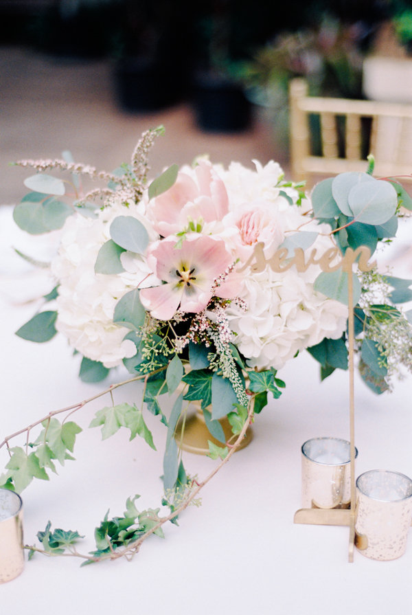 Pink and White Floral Centerpiece | Oahu Hawaii Fine Art Wedding By Alp & Isle Photography