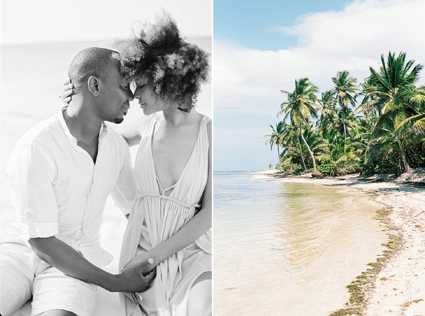 Tropical Beach Engagement Photos by Momento Cativo Photography