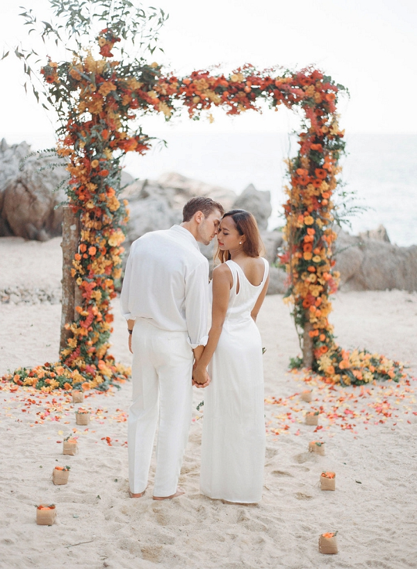 Bride and Groom | Tropical Luxe Wedding Inspiration in Thailand from Megan W Photography