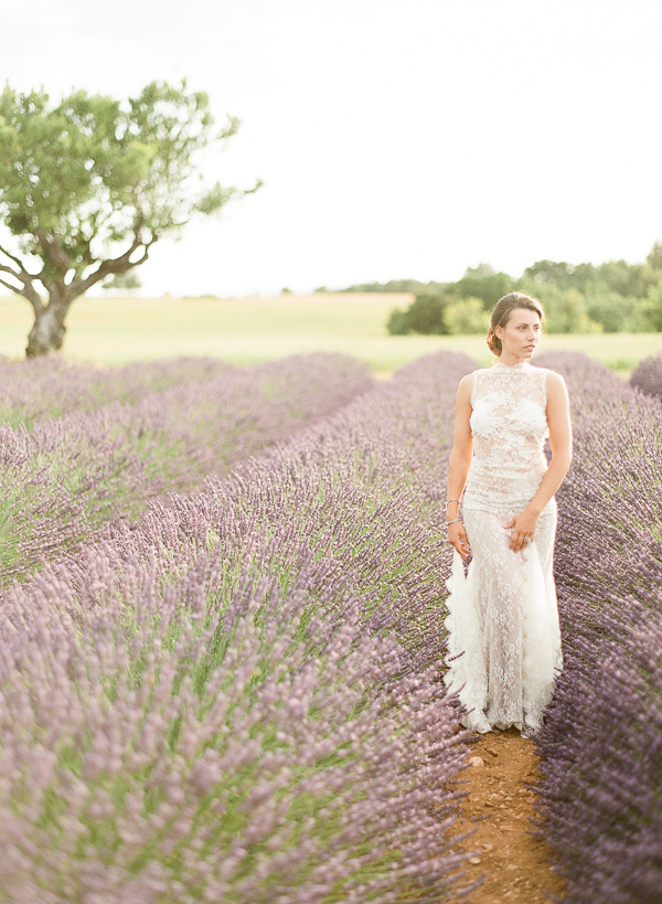 Bridal Portraits in Provence | Fine Art Destination Wedding Inspiration In The Corn Fields Of Aix en Provence by Julie Michaelsen Photography