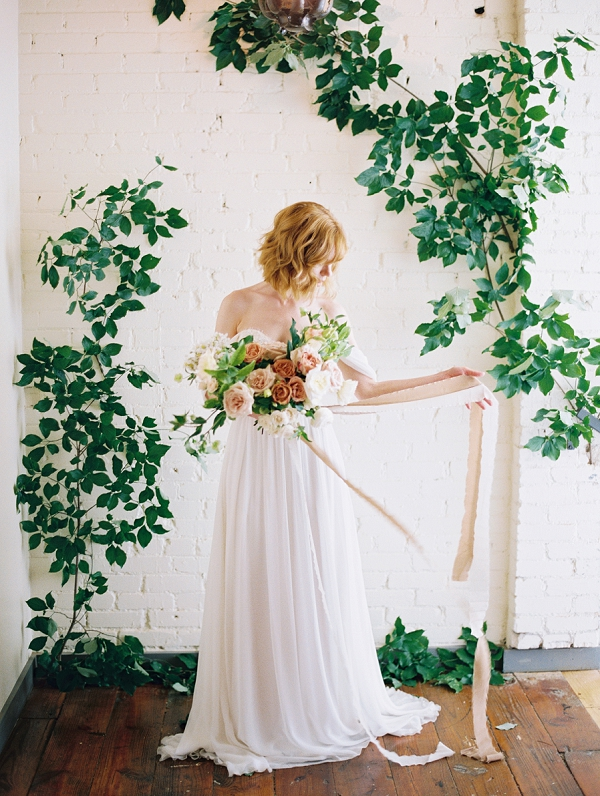 Spring Bride | Romantic Industrial Wedding Inspiration | Haystack Film Community | Grit + Gold