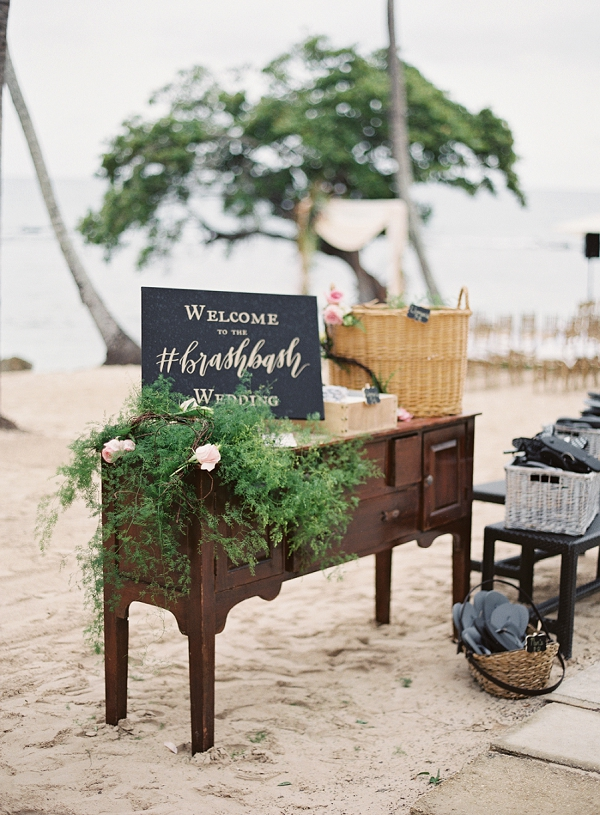 Beach Wedding Welcome for Guests | Dominican Republic Resort Wedding By Carrie King Photographer
