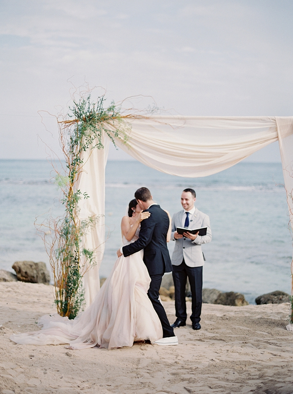 Beach Wedding Ceremony | Dominican Republic Resort Wedding By Carrie King Photographer