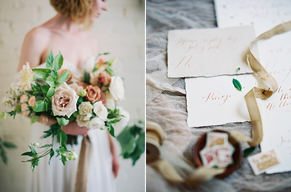 Lush Floral Bouquet | Romantic Industrial Wedding Inspiration | Haystack Film Community | Grit + Gold