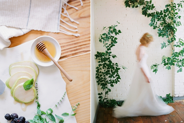 Fruit and Honey | Romantic Industrial Wedding Inspiration | Haystack Film Community | Grit + Gold
