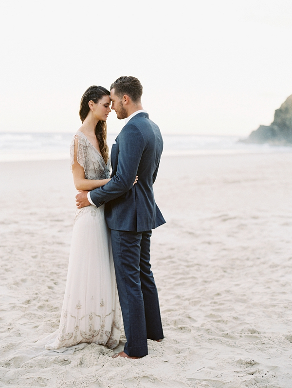 Bride and Groom Portraits | Minimalist and Organic Coastal Wedding Ideas from Jasmine Pettersen Photography