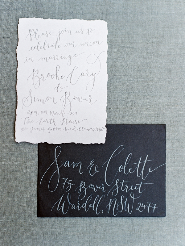 Whimsical Calligraphy | Minimalist and Organic Coastal Wedding Ideas from Jasmine Pettersen Photography