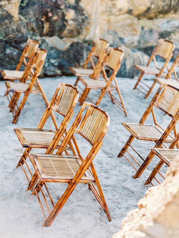 Beach Wedding Aisle | Minimalist and Organic Coastal Wedding Ideas from Jasmine Pettersen Photography