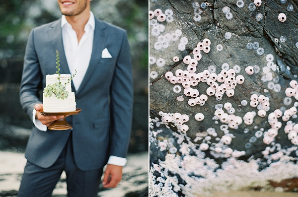 Organic Inspired Wedding Cake | Minimalist and Organic Coastal Wedding Ideas from Jasmine Pettersen Photography