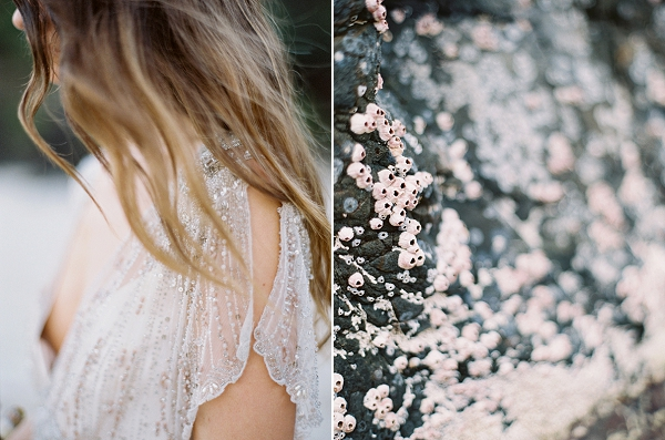 Sparkly Beaded Wedding Dress | Minimalist and Organic Coastal Wedding Ideas from Jasmine Pettersen Photography