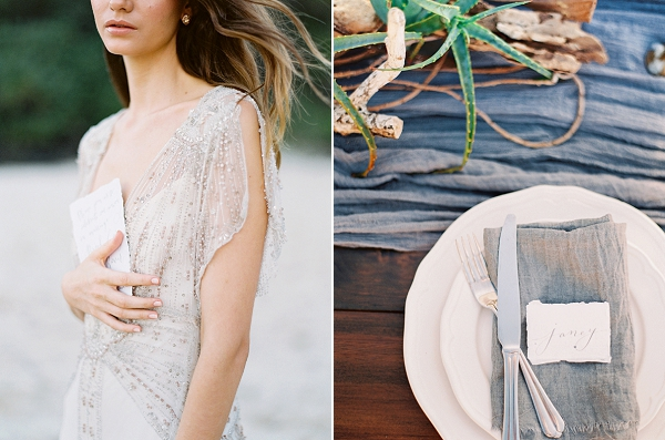 Elegant Beach Bride | Minimalist and Organic Coastal Wedding Ideas from Jasmine Pettersen Photography
