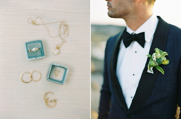Bridal Jewelry | Tropical Boutonniere | Nicaragua Destination Wedding by Brumley & Wells | Fine Art Film Wedding Photography