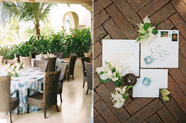 Wedding Reception | Invitation Suite and Wedding Ring | Nicaragua Destination Wedding by Brumley & Wells | Fine Art Film Wedding Photography