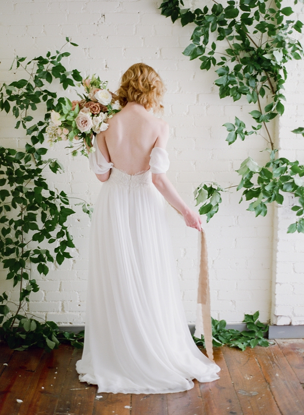 Beautiful Wedding Gown | Romantic Industrial Wedding Inspiration | Haystack Film Community | Grit + Gold