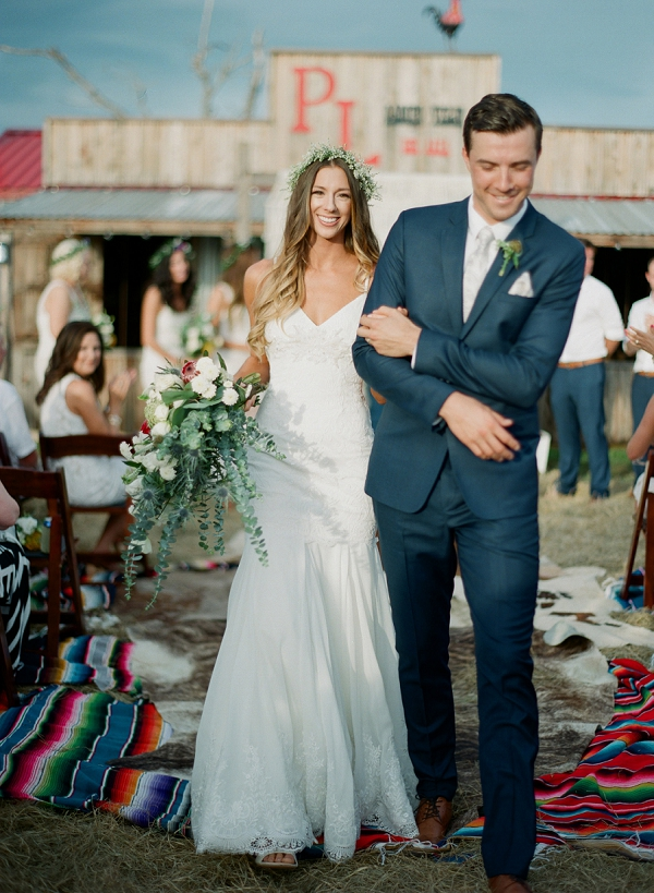 Just Married Bride and Groom | Bohemian Ranch Wedding By Alyssa Nikole Photography