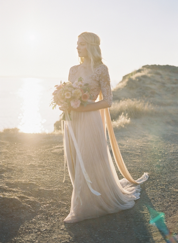 Golden Hour Portraits | Coastal Sunset Bridal Inspiration by Heather Payne Photography