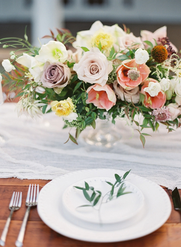 Stunning Floral Centerpiece | Hawaii Wedding Ideas with Old World Charm from Christine Clark Photography